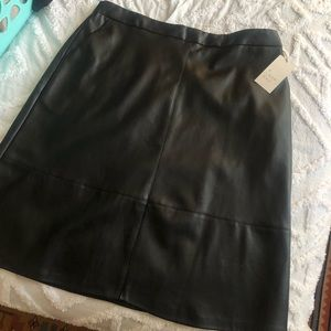 A New Day NWT Faux Leather Knee Length Skirt